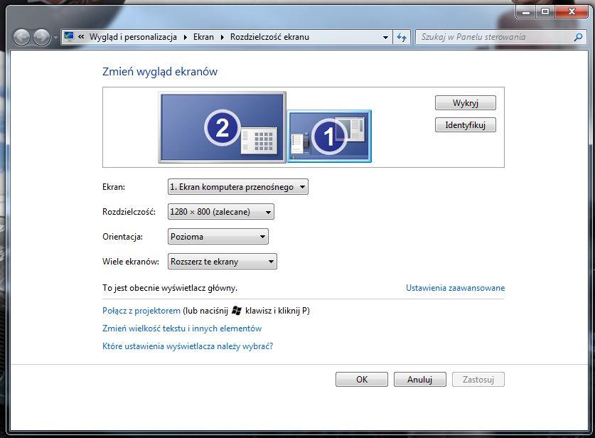 Zmiana rozstawienia ikon pulpitu po pod��czeniu monitora zewn�trznego
