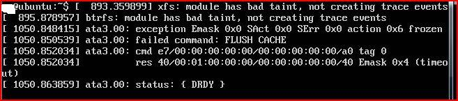 WDC WD800BEVT-75ZCT2 - Linux: ata3.00: failed command: FLUSH CACHE - co oznacza?