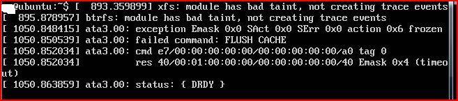 WDC WD800BEVT-75ZCT2 - Linux: ata3.00: failed command: FLUSH CACHE - co oznacza?