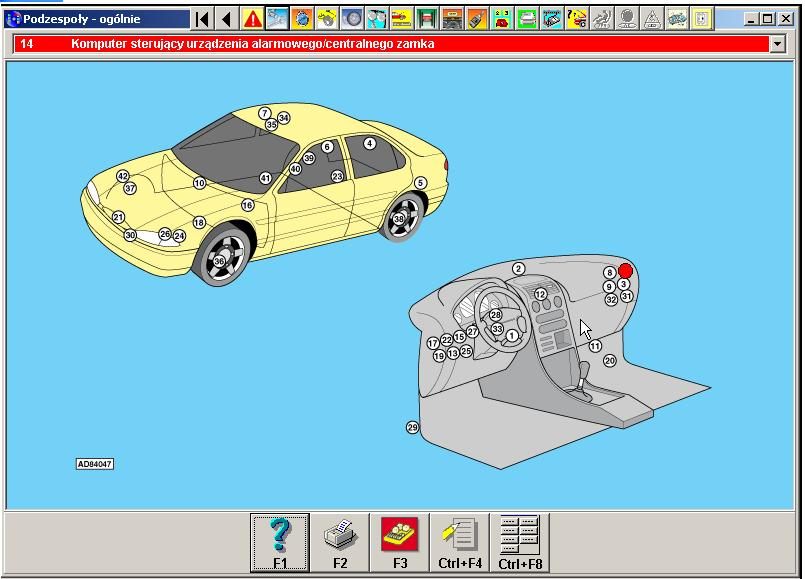 Ford mondeo 1993 hatchback centralny zamek