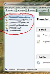 Jak dostosowa� panel folder�w w Thunderbird ?