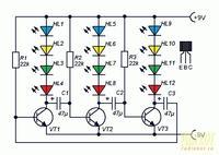 Multiwibrator dwustabilny z LED - nie rozumiem wartości rezystora