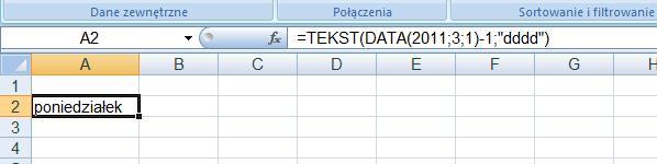 generowanie daty-formu�a Excel