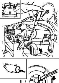 Demonta� stacyjki OPEL ASTRA II (2002r.)