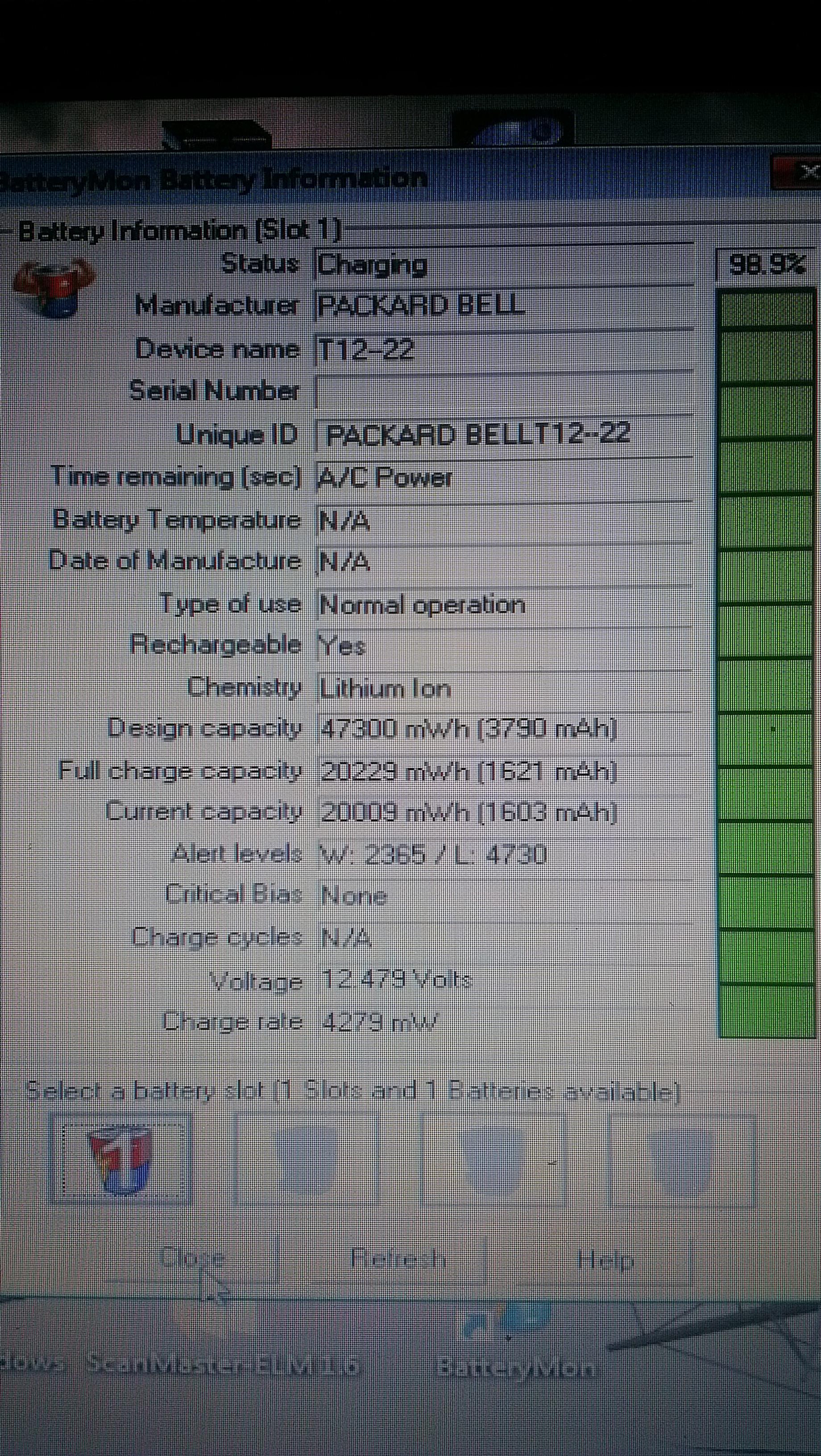 Packard bell padnieta bateria , nowej nie chce �adowac