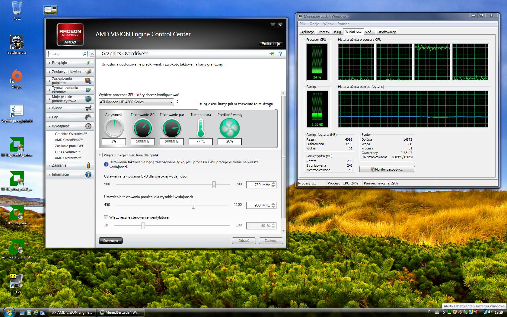 2 Ati Radeon 4870 crossfire 99% aktywno�ci