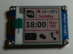 Barometr z historią pomiarów i wyświetlaczem e-papier.