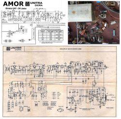 Unitra Diora Amor - przestroje . Schemat identyczny Junior