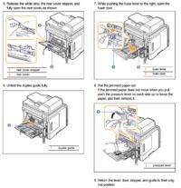 """SAMSUNG, SCX-5530FX/XEG - wyświetla komunikat """"Zesp. utrw. Otwarte drzwi&qu"""