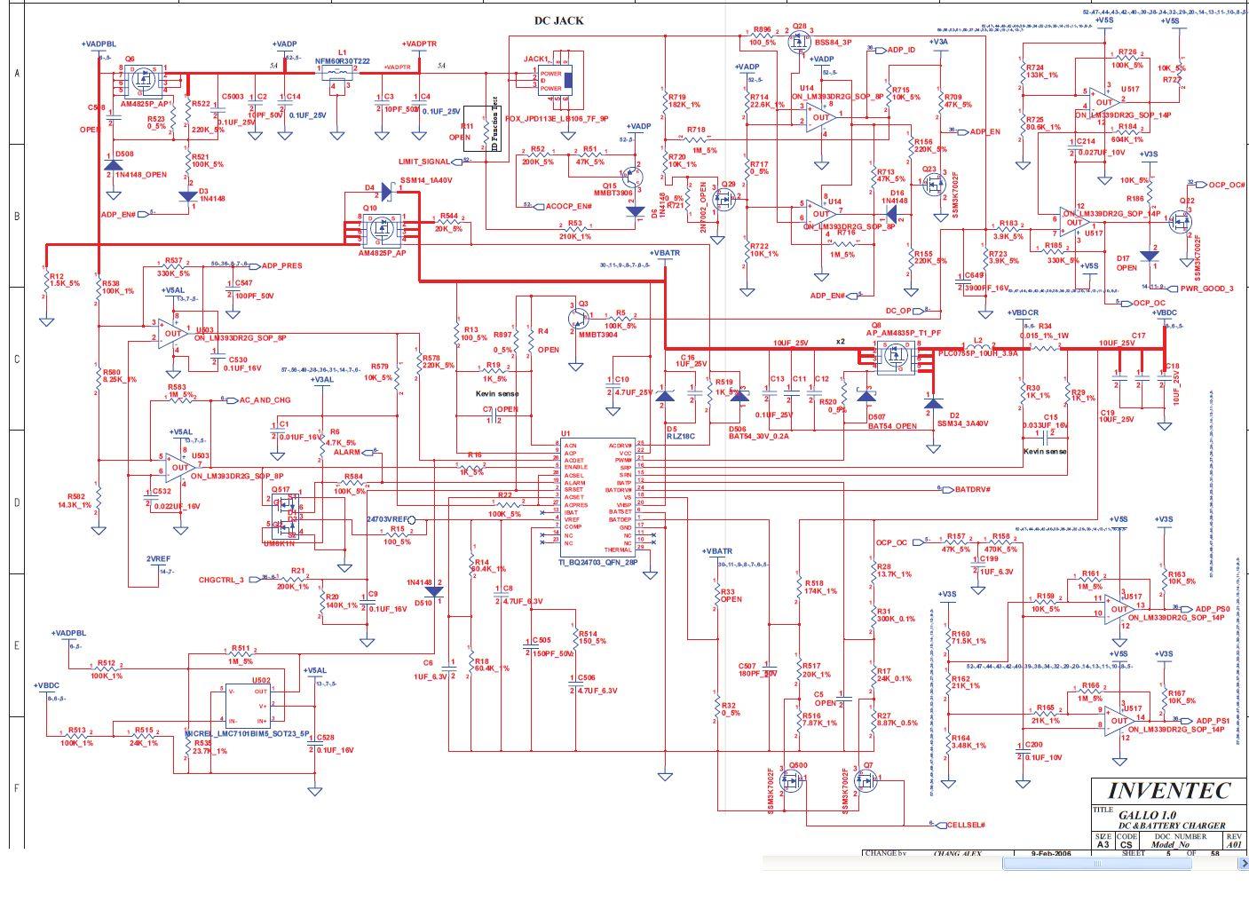HP/Compaq Nx7400 - Zwarcie drenu ze �r�d�em Q6