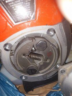kosa Demon RQ-580 - odłosy tarcia lementów podczas wysokich obrotów