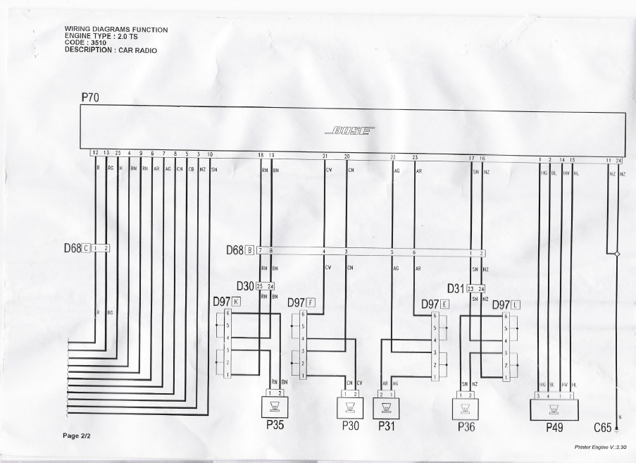Pod U0142aczenie Tuby I Wzmaczniacza Bose Amp 3510 C5a Do