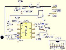 Włącznik/ściemniacz dotykowy do lamp LED