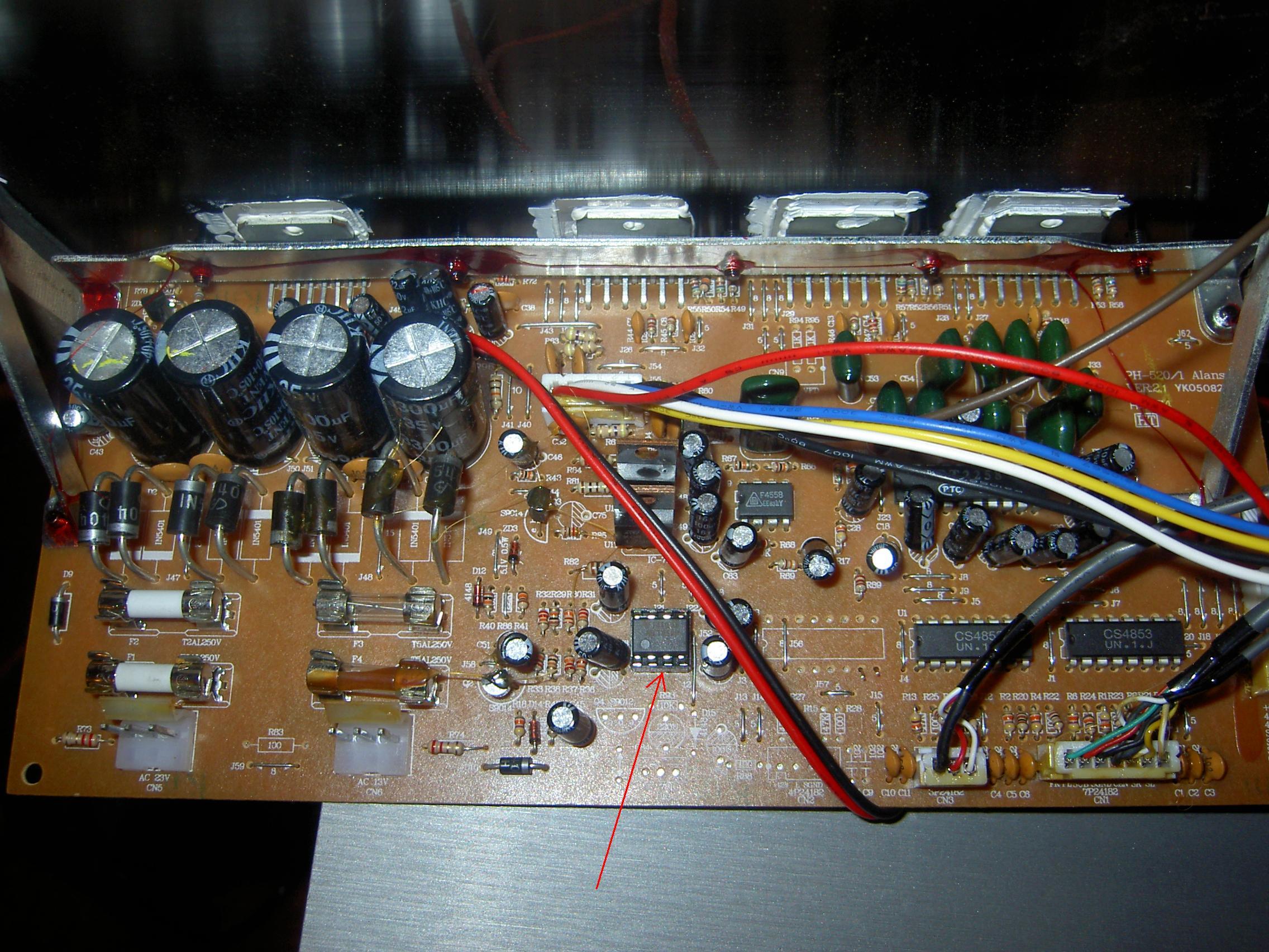 AEG SLS 4705 G�o�niki trzeszcz� po wymianie wzmacniacza