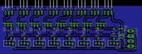 Prosty, ośmio kanałowy regulator obrotów wentylatorów