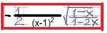 obliczenie pochodnej funkcji pierwiastek z ułamka