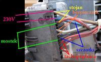 Silnik od pralki automatycznej MCA 52/64 - nie startuje, jak uruchomi�?