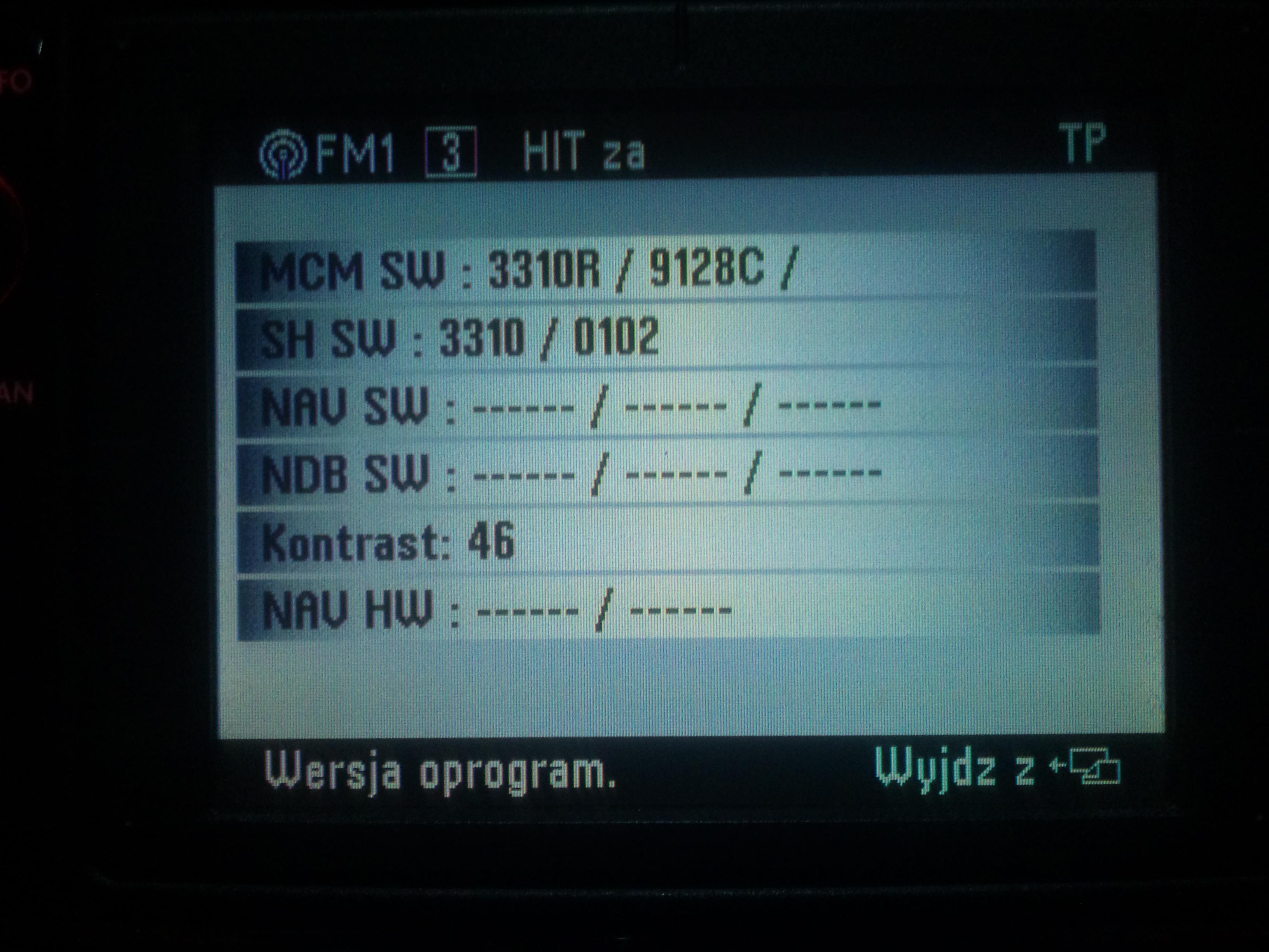 Wgrywanie mapy nawigacji do Navigation system MFD.