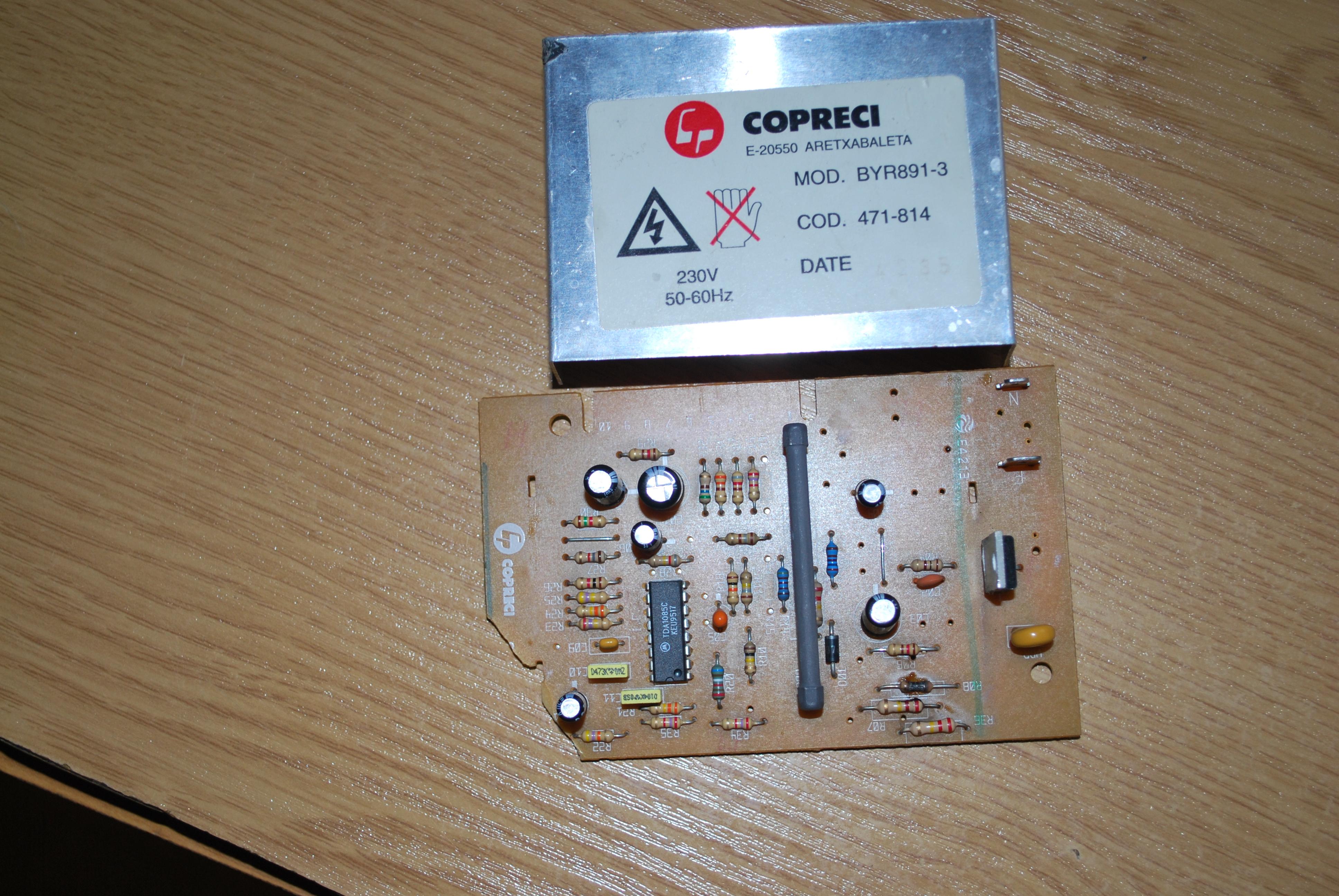 Pralka Bosch 1604/05  - Nie rusza silnik- uszkodzony modu� BYR891-3