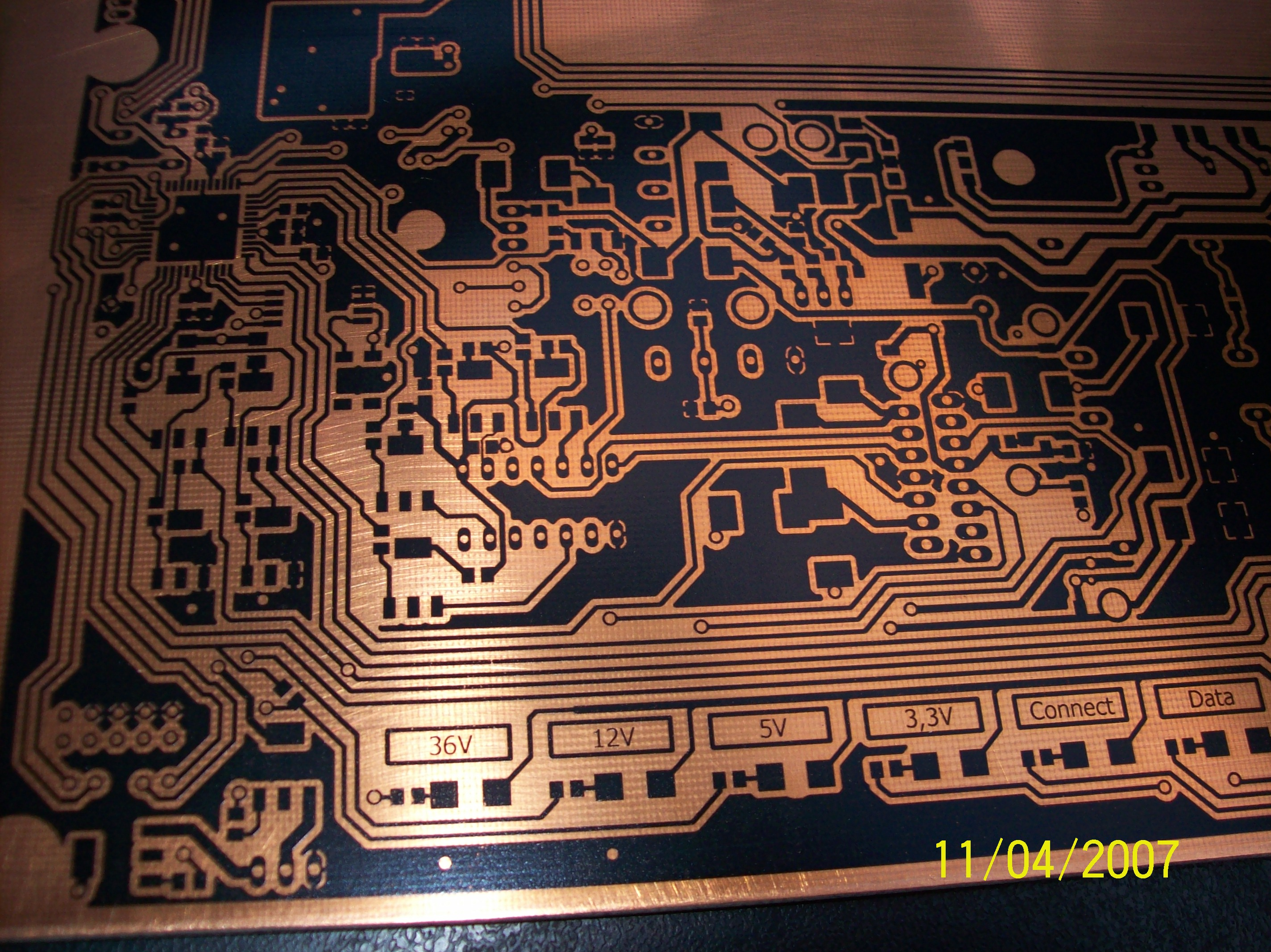 Printing with a laser printer on a PCB laminate - elektroda com