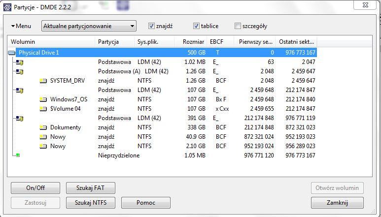 Dysk dynamiczny -> nieprawid�owy. Windows 7 sie nie uruchamia.