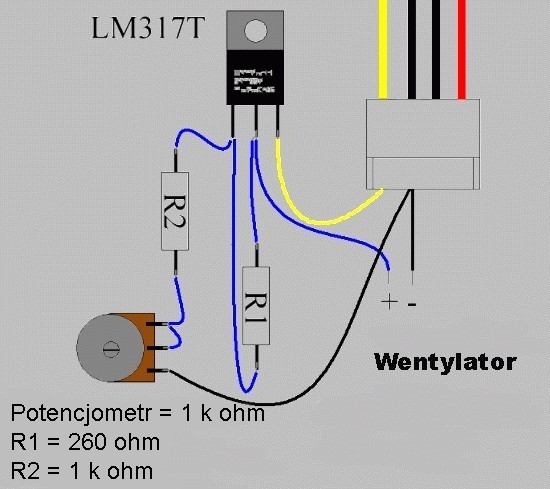 Regulator obrotów wentylatora komputerowego