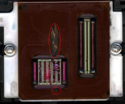 Spalona głowica PIXMA IP3000