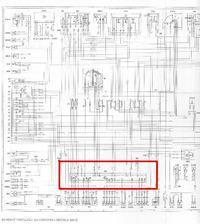 mercedes W124 200D 1988 Gdzie jest mod. kontroli zarówek?