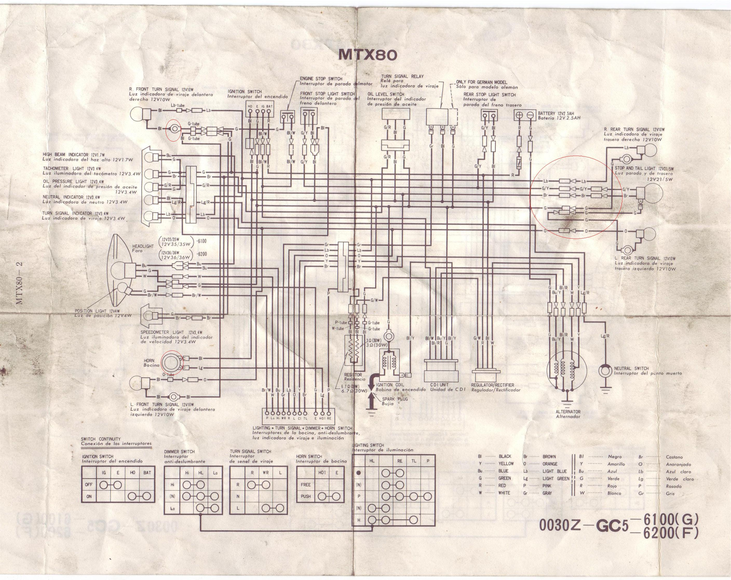 Honda Mtx 80 Wiring Diagram Opinions About Cimar Guitar Copy Gibson 125 And Schematics Dirt Bike