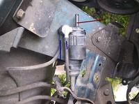renault laguma zbiornik płynu spryskiwaczy jak zdemontować