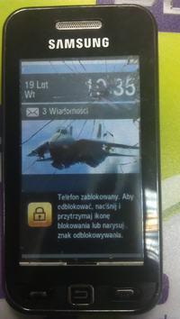 Samsung Avila S5230 - Szklany dotyk?