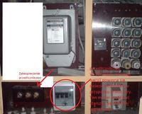 Świecąca się dioda ALARM na liczniku prądu i brak fazy