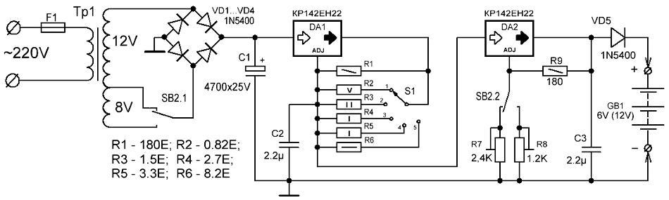 Зарядка для гелевого аккумулятора своими руками