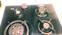 kuchenka gazowa na szklanej płycie Amica - nie działają 2 iskrowniki z 4