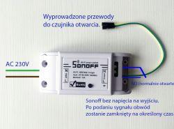 Podłączenie sterowanie wifi do bramy