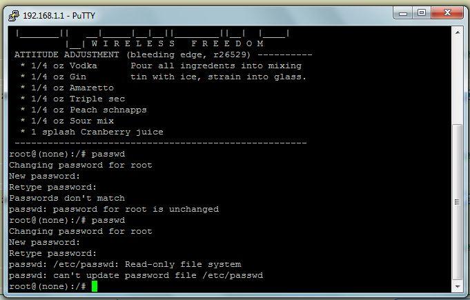 LINKSYS WRTU54G-TM po zmianie firmware