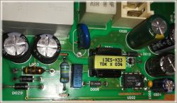 Pralka Whirlpool AWE 2519 - moduł sterownika L1782, brak kondensatora C053