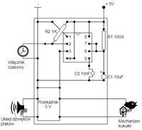 Projekt zegara z kukułką - Timer NE555 z Przekaźnikiem