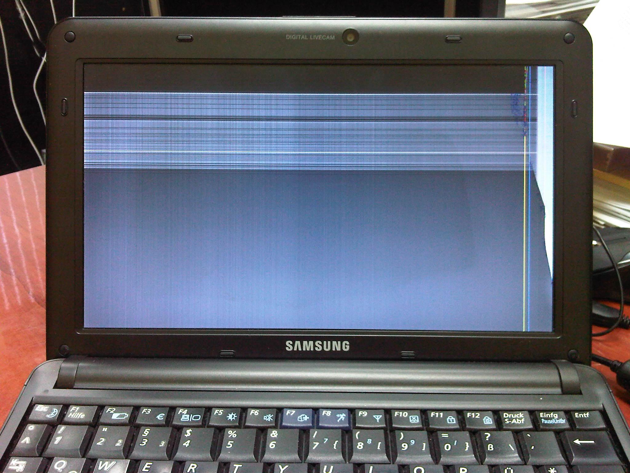 Samsung NP-N130 - uszkodzona matryca?