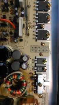 Alpine Amplifier MRV-F353 - uszkodzona przetwornica