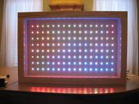 Prezentacja ozdoby z diod LED. Zdjęcia, filmiki.