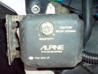 Czujnik Alpine 8322. Podłączenie do alarmu Eurosec.