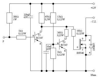Przerobienie schematu modułu zapłonowego