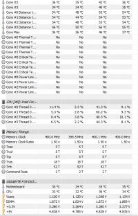 Komputer stacjonarny - Pasy poziome czarno białe i buczenie