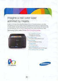 Laser Kolor Samsung CLP-310 Odbite kolorowe elementy