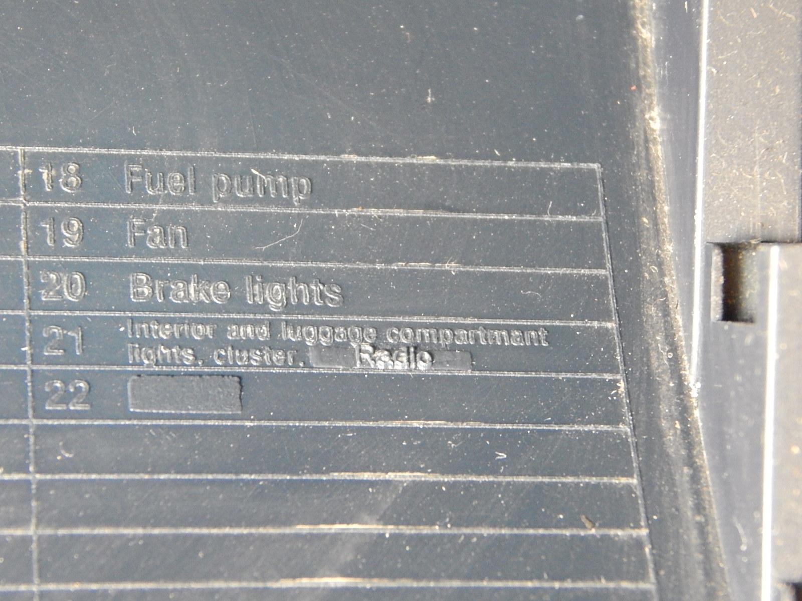 Vw sharan 1,9 TDI 1996r  - Du�y pob�r pr�du 1,5 A na bezpieczniku 21