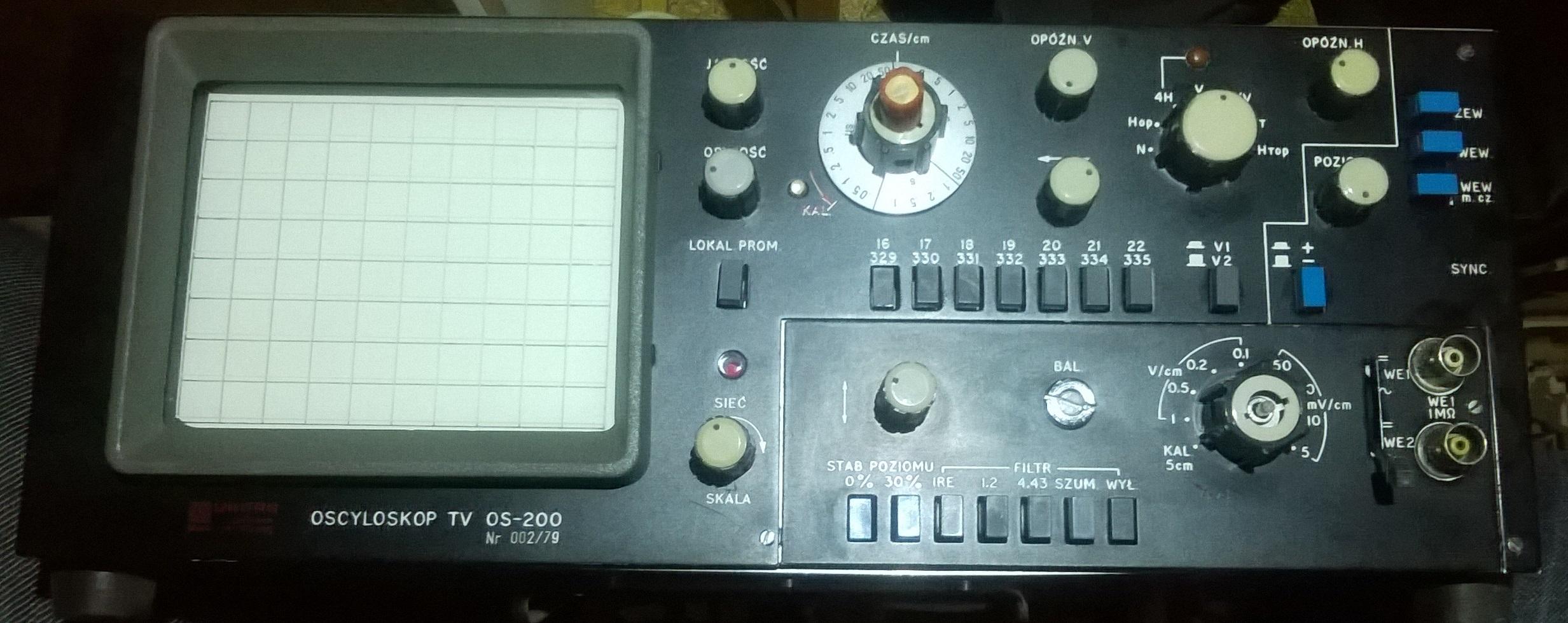 Szukam instrukcji obs�ugi do oscyloskopu Unitra TV OS-200
