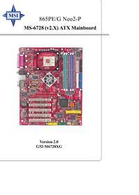 MSI 865PE Neo2-P MS-6728 v.2 - system i BIOS nie wykrywają części RAM