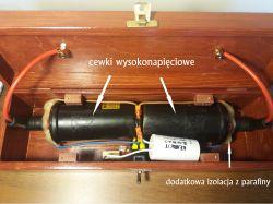 Generator wysokiego napięcia z dwóch cewek zapłonowych
