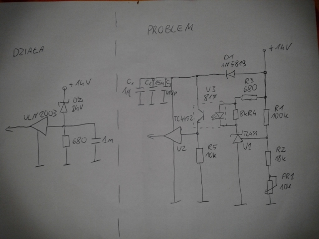 Stratny regulator napi�cia 3F  - sterowanie